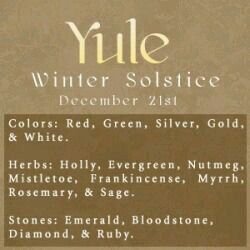 Sabbats~ Wiccans & Pagans celebrate Yule aka Winter Solstice