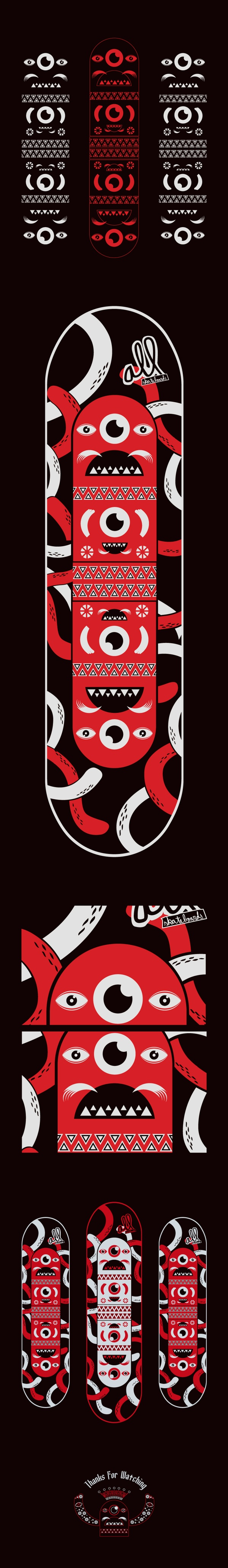 Diseña tu Tabla, All Skateboards by Edwards Eddies, via Behance