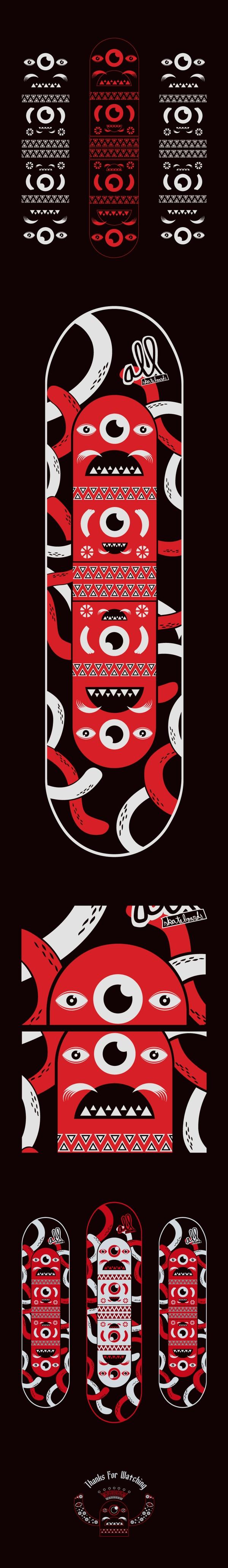 Diseña tu Tabla, All Skateboards by Edwards Eddies, via Behance