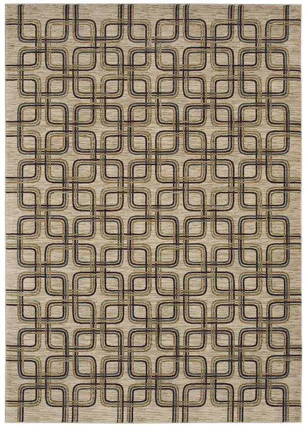 "Area rug by Shaw Floors in the HGTV HOME Flooring by Shaw collection style ""Mod Links"" color Beige"