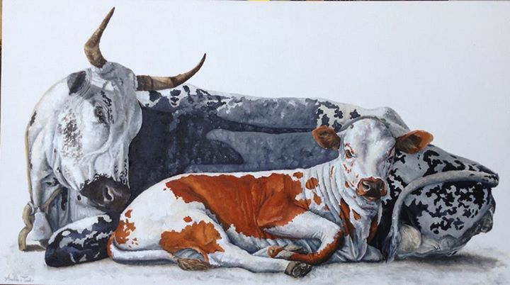 Motherly love. 120 x 68cm. Oil on canvas R28000.