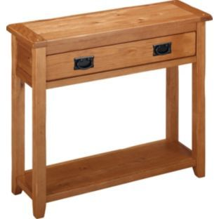 Buy Middleham Console Table - Solid Oak and Oak Veneer at Argos.co.uk Size H75, W90, D30cm.