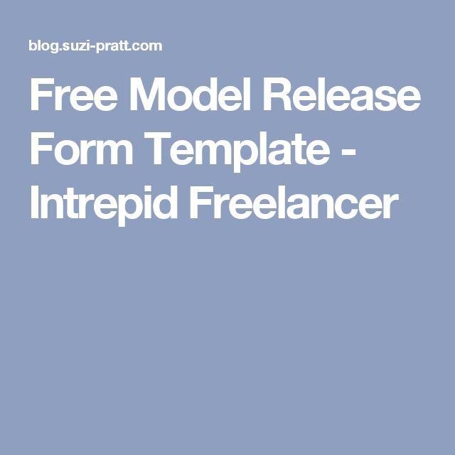 Free Model Release Form Template - Intrepid Freelancer Useful - model release form