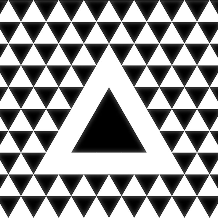 Triangle geometric pattern