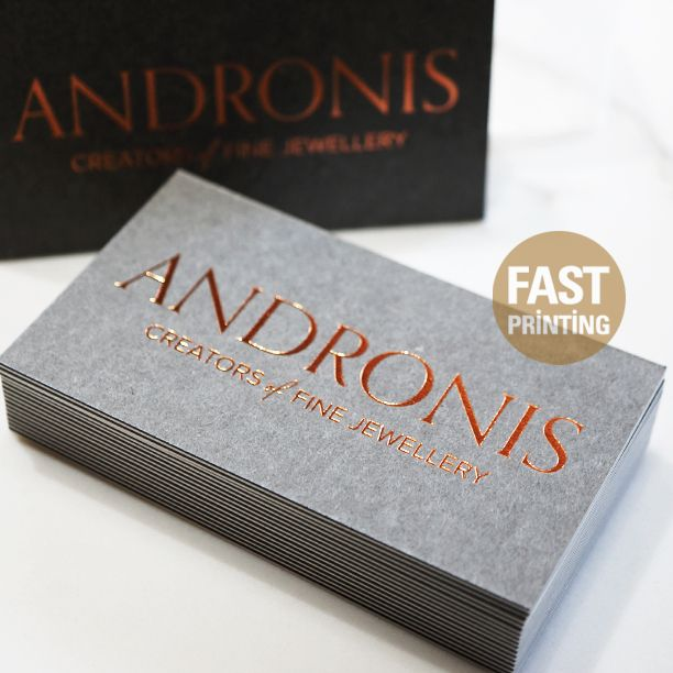 68 best business cards images on pinterest sydney business doubluxe business card with cooper bronze foil finish 350gsm extra grey 350gsm soft cotton reheart