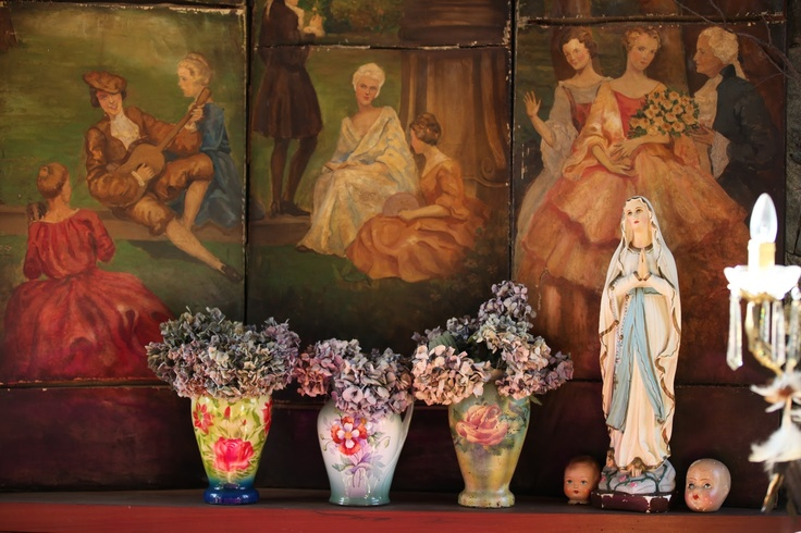 Catholic home decor and sweet home on pinterest for Catholic decorations home