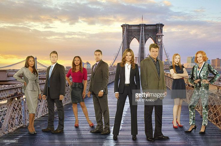 CASTLE - ABC's 'Castle' stars Penny Johnson Jerald as NYPD Captain Victoria Gates, Seamus Dever as NYPD Detective Kevin Ryan, Tamala Jones as Medical Examiner Lanie Parish, Jon Huertas as NYPD Detective Javier Esposito, Stana Katic as NYPD Detective Kate Beckett, Nathan Fillion as Richard Castle, Molly Quinn as Alexis Castle with Susan Sullivan as Martha Rodgers.