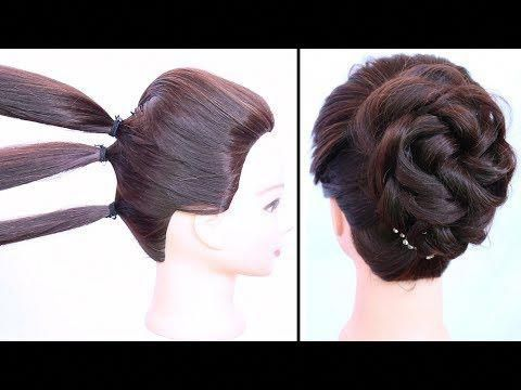 Simple Messy Bun With Trick For Dress Lehnga Party