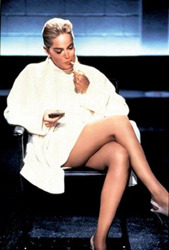 Sharon stone basic instinct sex scene crotch shot