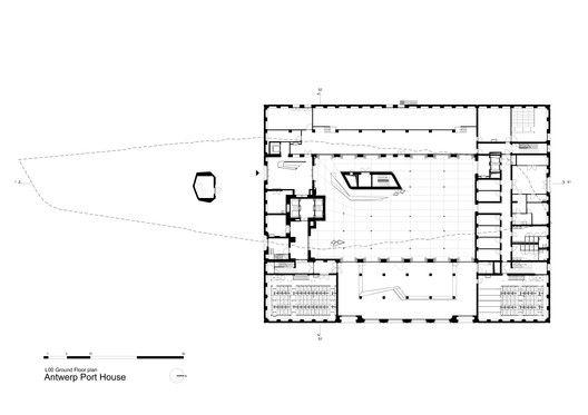 Antwerp Port House,Level 0 Floor Plan