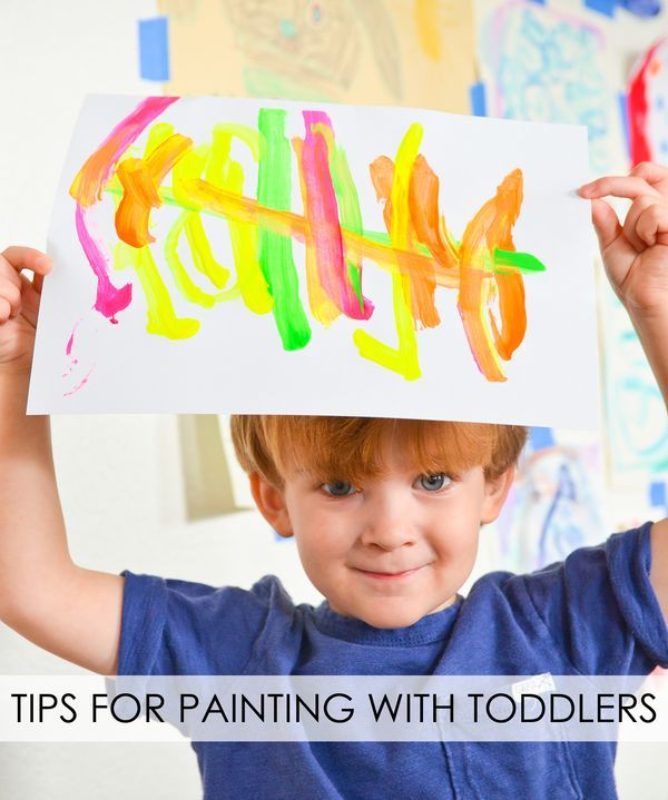 Tips for Painting with Toddlers