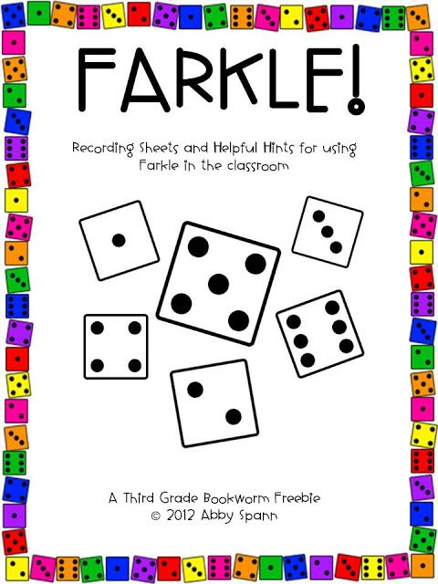 """""""Farkle!"""" is an extra fun way to practice number sense and place value skills with intermediate students. They'll practice adding large numbers and fine tune their computation skills without knowing it! :) I've used this in the classroom as for my early finishers as a sub activity and even in a math summer camp! I can't wait to hear about how you use it with your kids! Grab it right from Teachers Pay Teachers by clicking on any of the images above! There are color and grayscale options…"""