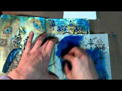 New Art Journal Page - Inking Masking Tape for Texture - YouTube...11 min. Lots of layering.
