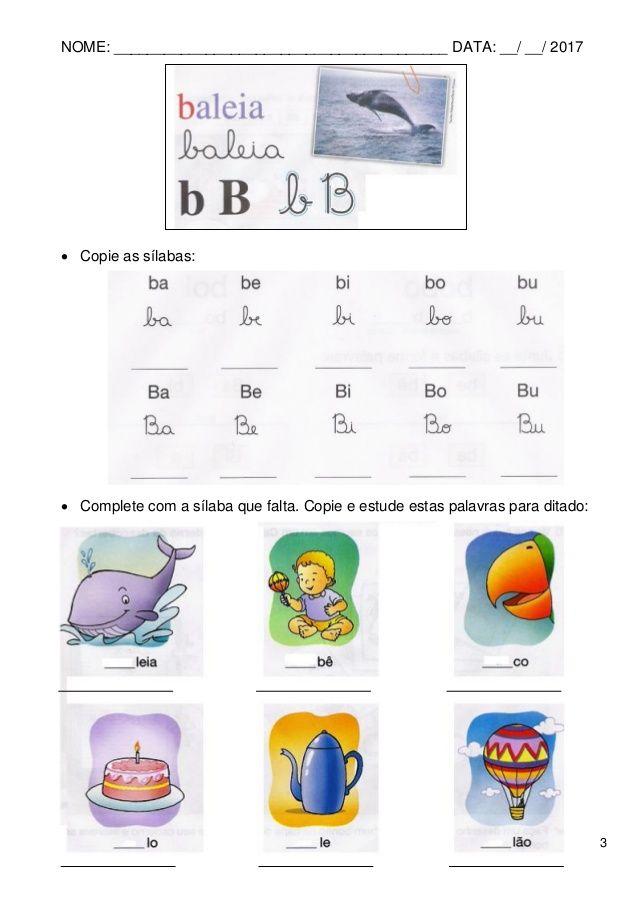 Apostila De Atividades De Alfabetizacao Volume3 Com Imagens