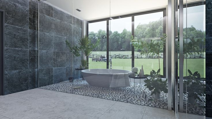 Ванная комната напоминает морское побережье