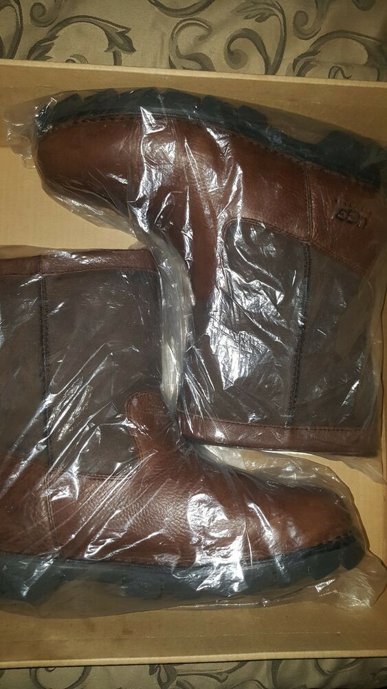 1bb73ba5ec4 UGGS Mens Beacon Brown Leather sheepskin lined boots size 13 ...