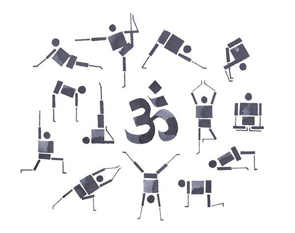 Лондонский дизайнер и иллюстратор, Andrew Fox, создал интересный йога проект Calligraphy yoga, посвящённый разным асанам. Он решил изучить человеческое тело во время выполнения асан и затем изобразить позы специальным карандашом для каллиграфии.