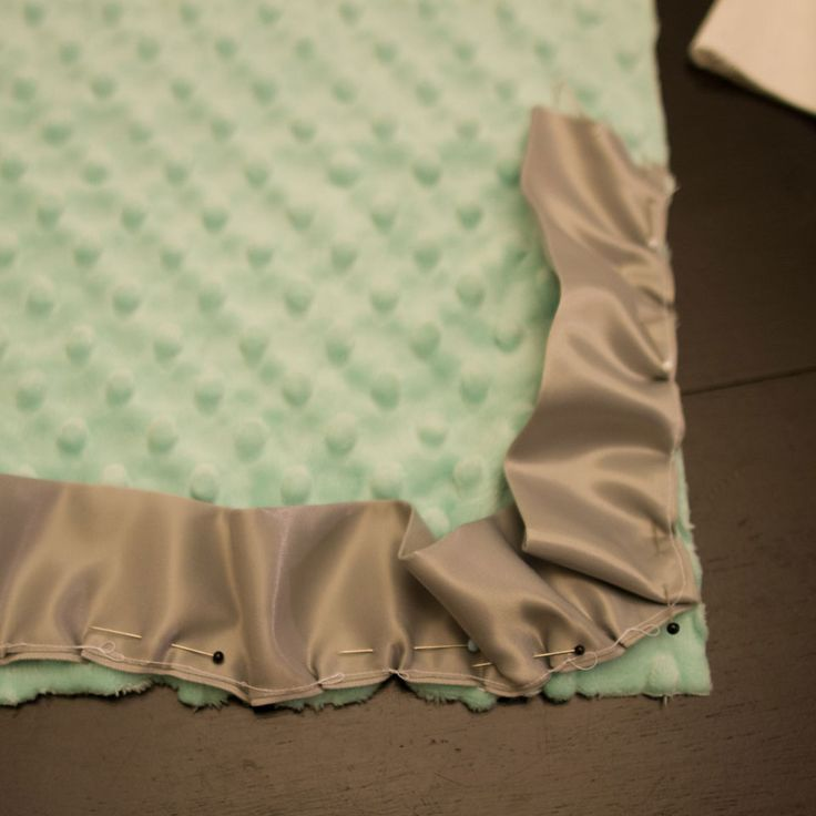 How to Sew a Minky and Cotton Blanket with a Satin Ruffle | Creative House Blog