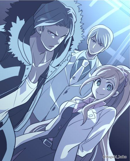 Juzo Sakakura, Chisa Yukizome and Kyosuke Munakata // DanganRonpa 3 : The End of Kibougamine Gakuen - Mirai hen