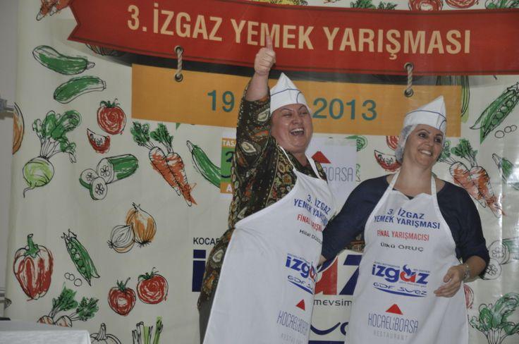 2013 İzgaz GDF SUEZ Yemek Yarışması'nda Ülkü Hanım Kadayıflı Pastırmalı Börek tarifiyle birinciliğe hak kazandı.