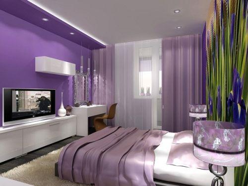 Спальня в фиолетовых тонах: особенности дизайна   Строительный портал