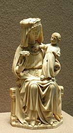 Vierge à l'enfant en ivoire XIIIème siècle