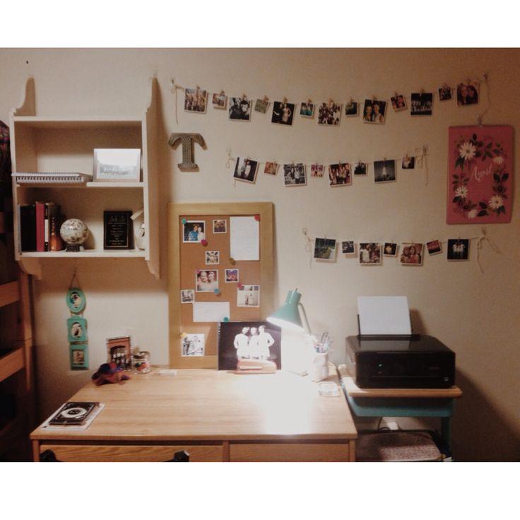 My desk.  Dorm room decor.