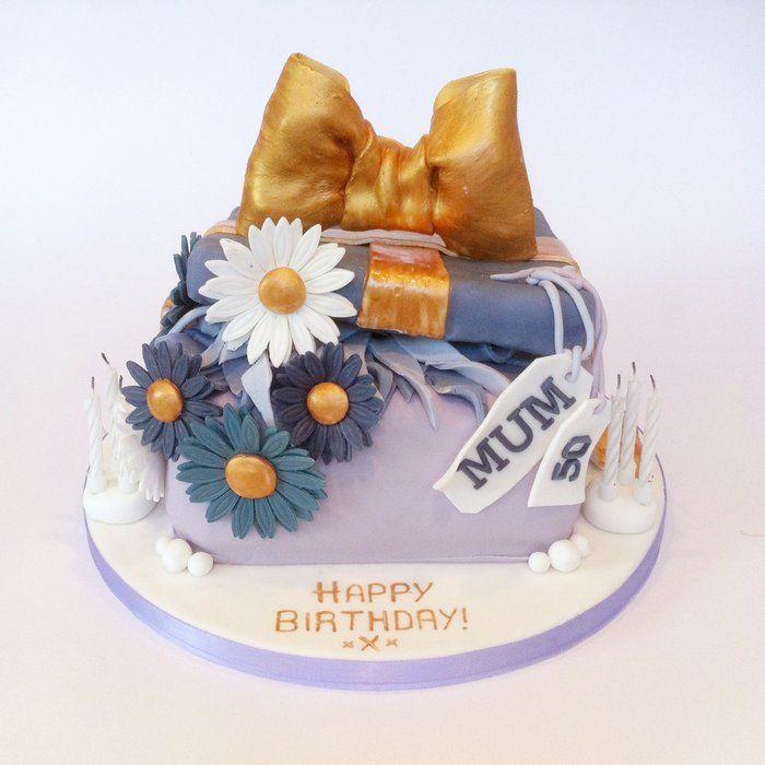 Daisy Gift Box Cake