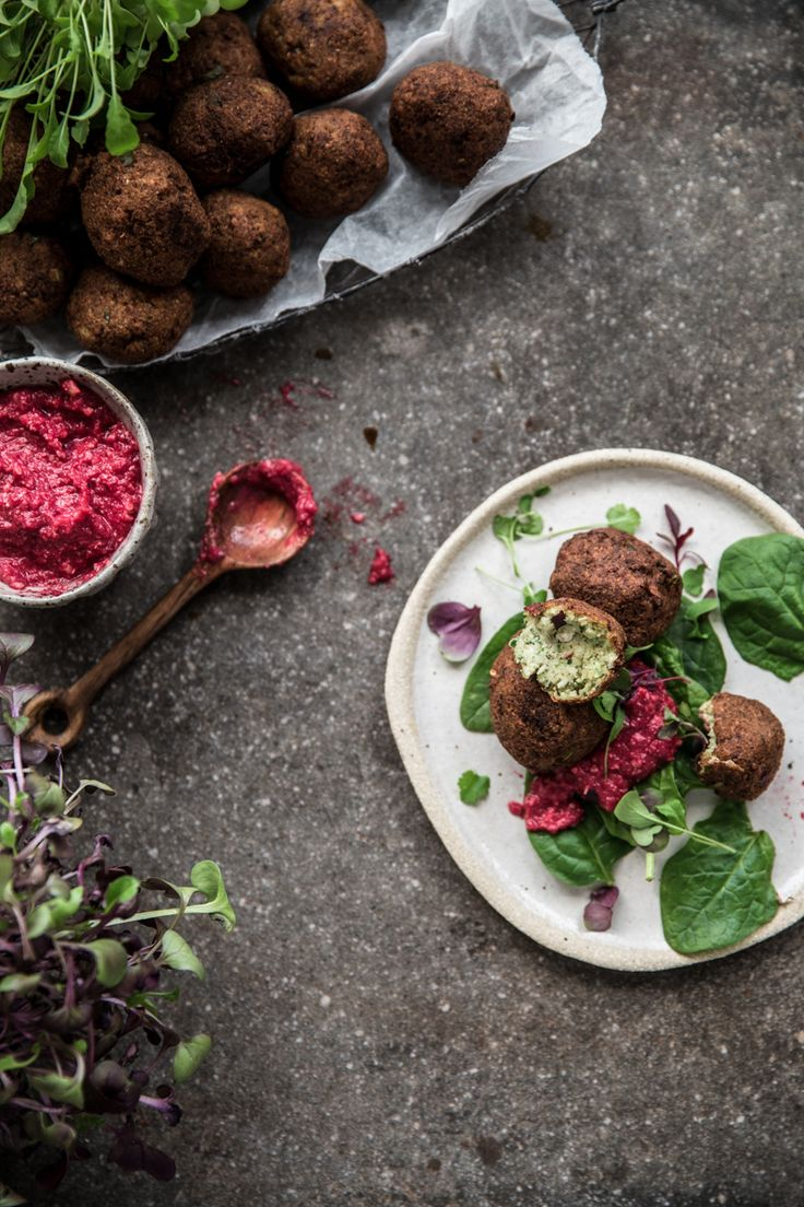 Spicy Cauliflower Falafel With Beetroot Dip - Cook Republic