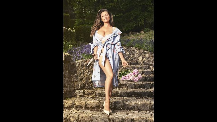 Kelly Brook strips to lingerie as she bares all for sultry 2018 calendar