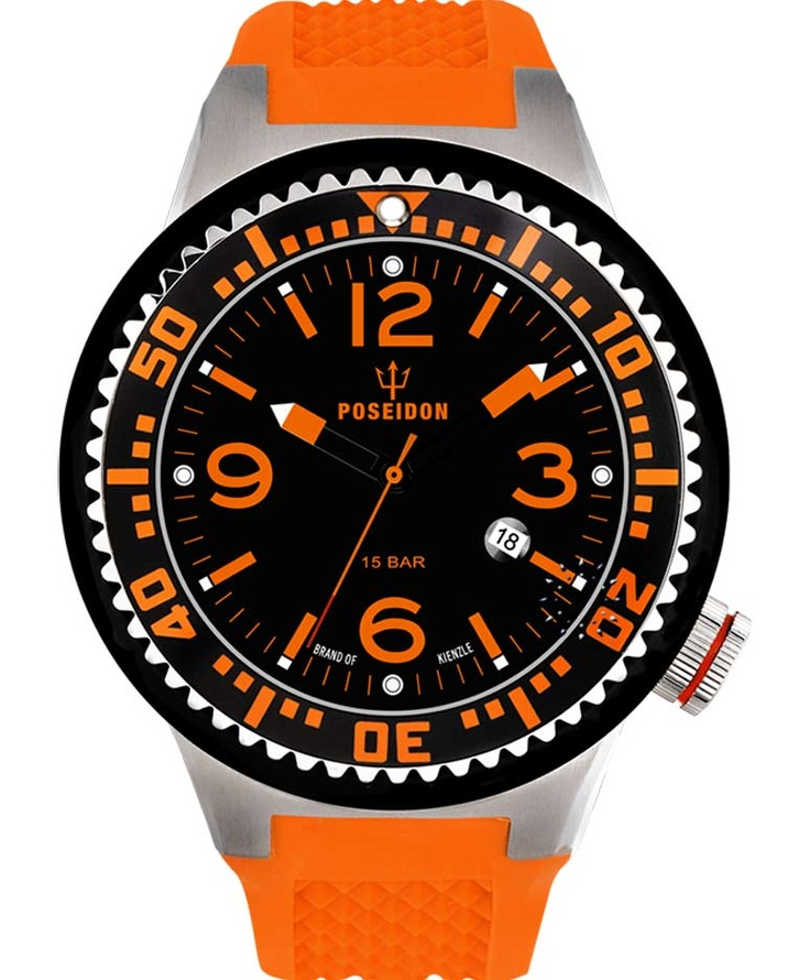 POSEIDON XXL Orange Silicone Strap Τιμή: 119€ http://www.oroloi.gr/product_info.php?products_id=34093