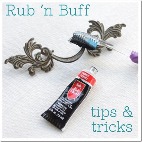 Rub'n Buff - to transform ugly furniture handles...how did she know its on this years to-do list!