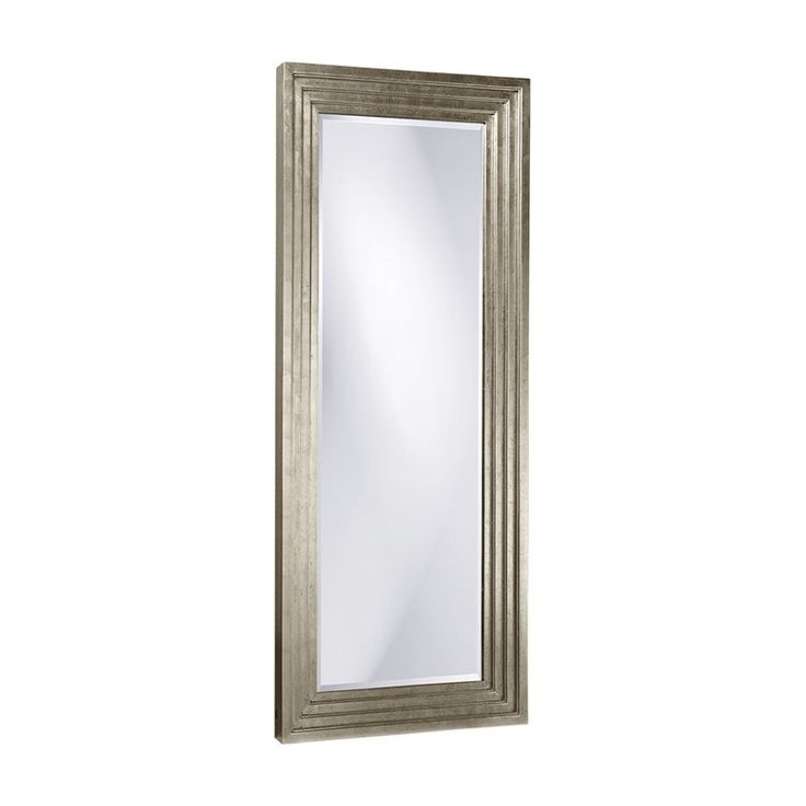 Delano Silver Leaf Oversized Full Length Mirror - 34W x 82H in. - Wall Mirrors at Hayneedle