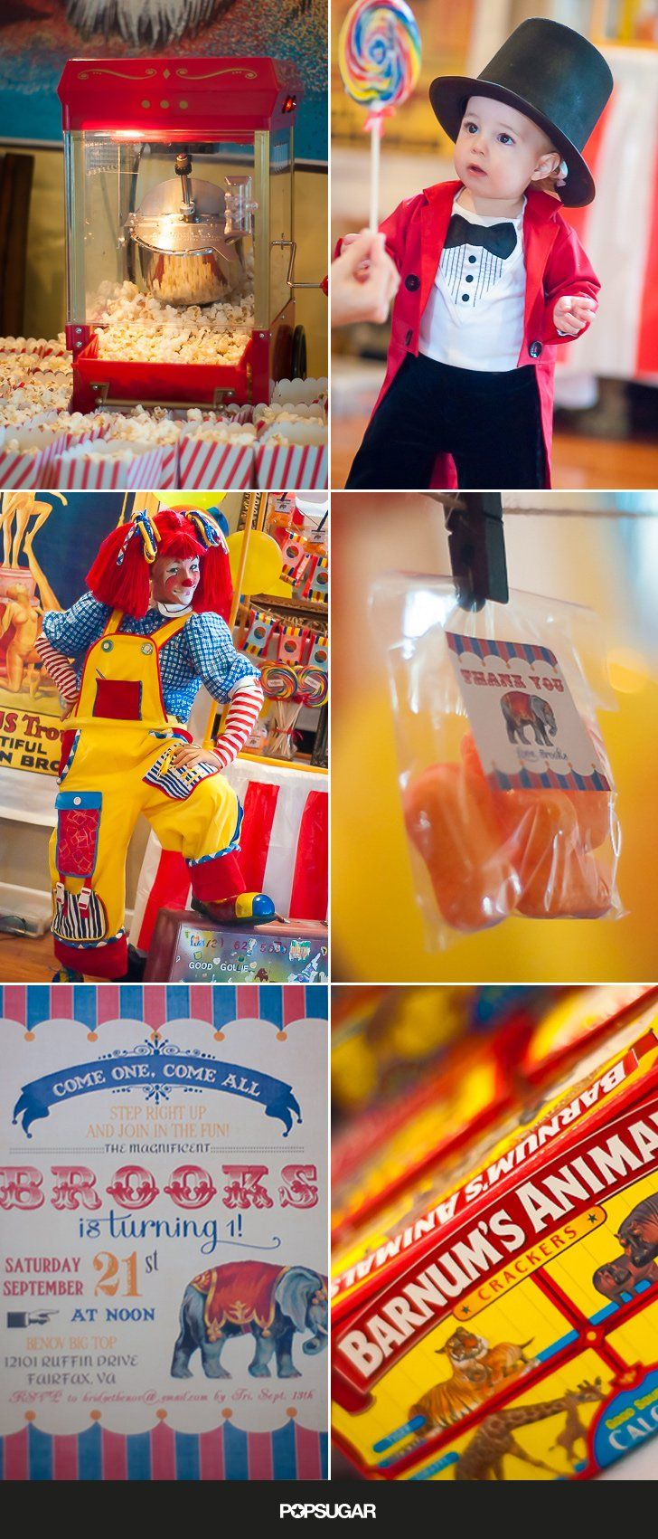 Pin for Later: Step Right Up to Brooks's First Birthday Party Under the Big Top