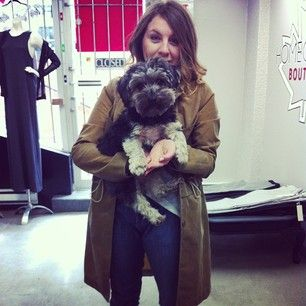 @Jessaca Austin in our perfect spring #trenchcoat and our fave puppy