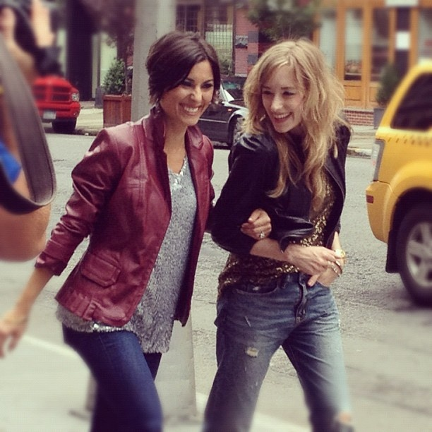 Trend spotting has never been so fun! Host Amy Stran + Kim of @eat.sleep.wear. filming in NYC for #InspiredStyle