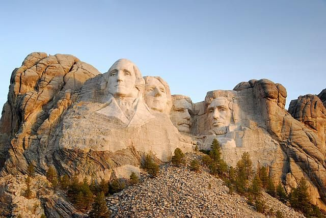 Mount Rushmore and the Statue of Liberty