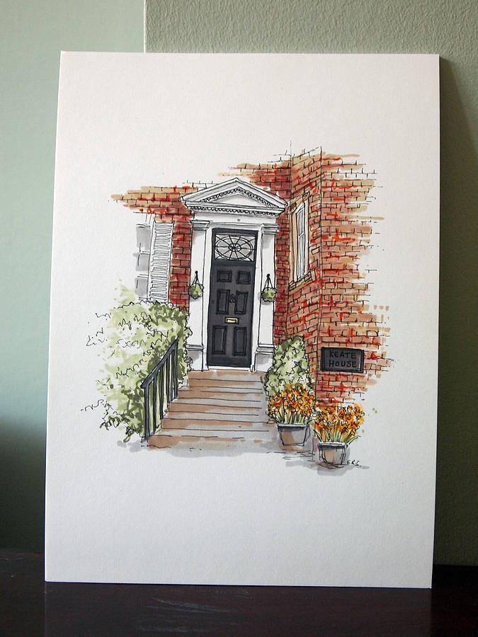 Personalised Front Door Sketch, £38.00