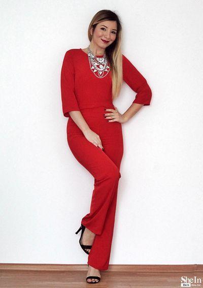 #xmas #weihnachten Jumpsuit rot rückenfrei