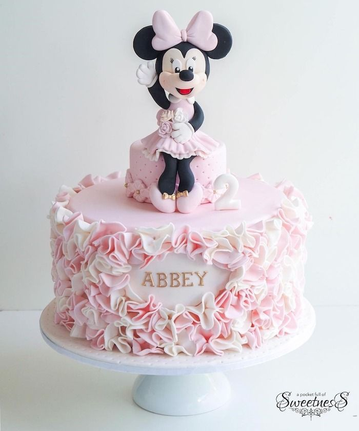 3D Disney Minnie Mouse  Inspired Cake Topper