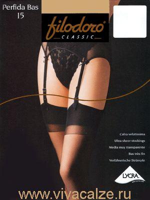 PERFIDA 15 BAS Матовые и прозрачные #чулки под пояс плотностью 15 Den. С Lycra одинарной обкрутки и укрепленным мыском. Формованная ножка.