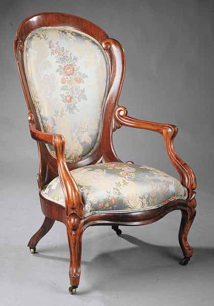 American Rococo Armchair, mid 19th c.