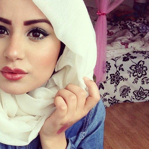 White #hijab #fashion