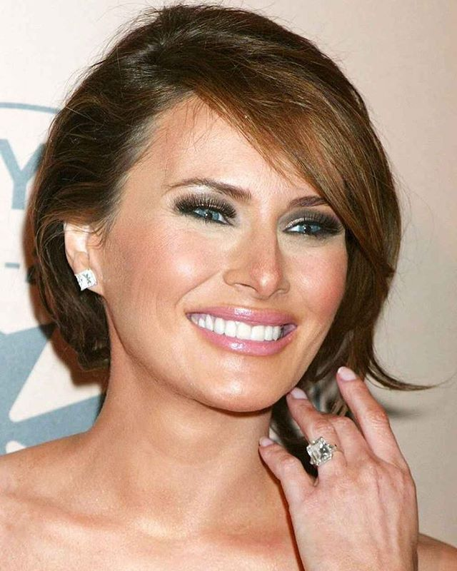 THE SECOND MOST EXPENSIVE WEDDING RING IS MELANIA KNAUSS' , WORTH $3 MILLION. April 2010  When Donald Trump gifted a gigantic 15-Carat white diamond, reported to cost 3 million dollars to Melania Knauss for their engagement in 2004, this diamond ring was from Graff Jeweler customized for the 30-year old model; the billionaire advertised that it was the most expensive engagement ring in history.