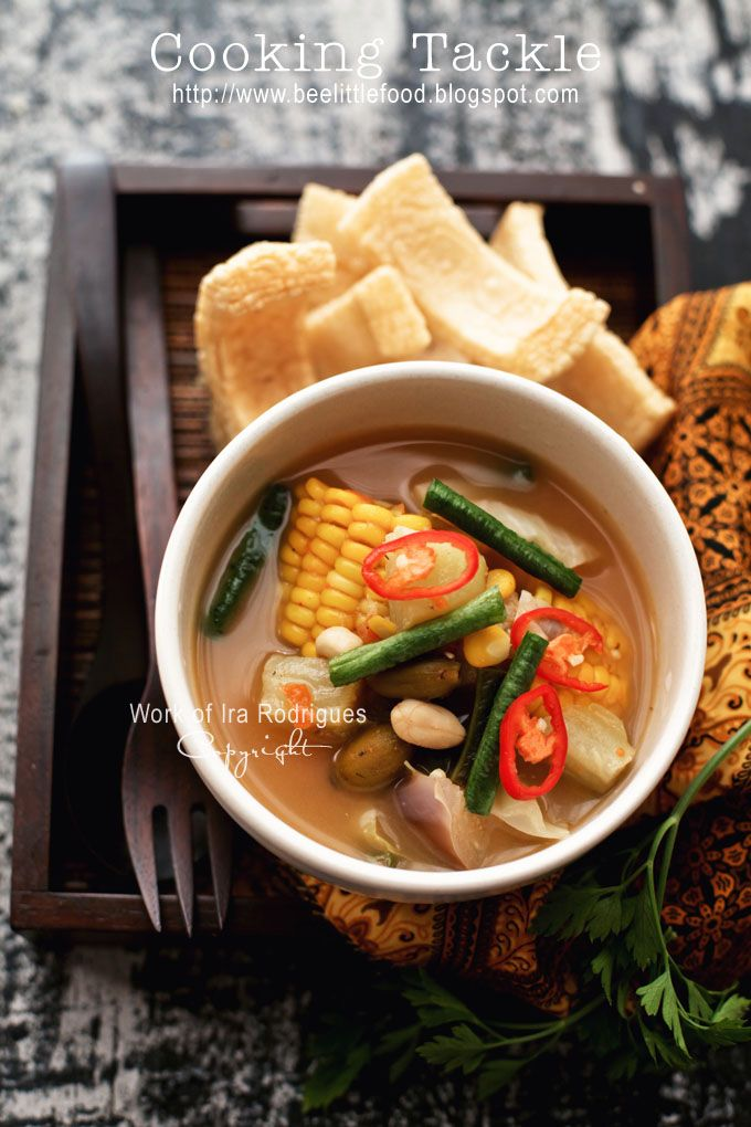Sayur asem / various vegetables in tamarind soup