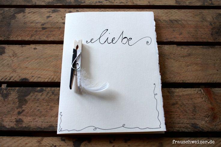 handgemachte Karte zu Hochzeit, Liebe, Wedding , Glückwunsch, Gratulation