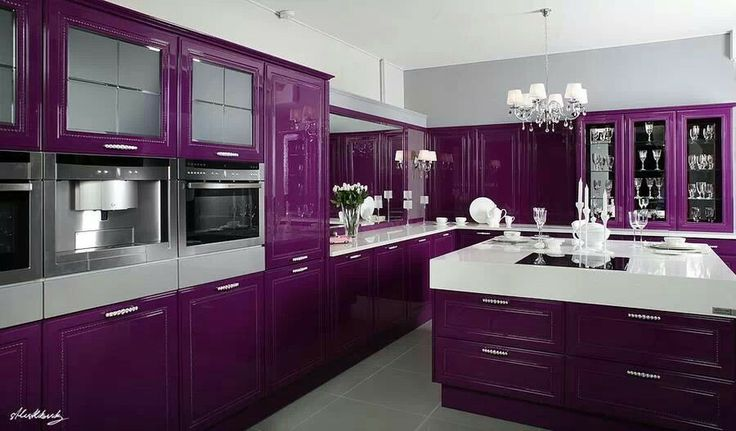 Purple kitchen.