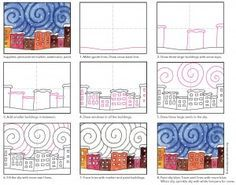 Starry Snowy Night | Art Projects for Kids | Bloglovin'