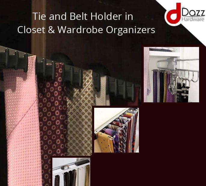 Tie And Belt Holder In Closet And Wardrobe Organizers. #TieandBeltHolder