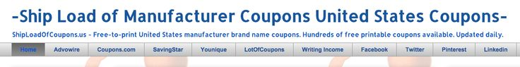 Ship load of manufacturer coupons -United States Coupons #coupon #eat #food #foodshop supermarker